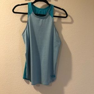 North Face • neon blue and gray tank